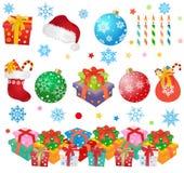 Elementos del diseño de la Navidad Fotos de archivo