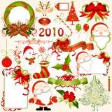 Elementos del diseño de la Navidad Imagenes de archivo