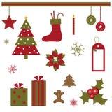 Elementos del diseño de la Navidad Fotografía de archivo