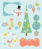 Elementos del diseño de la Navidad Imagen de archivo libre de regalías