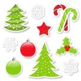 Elementos del diseño de la Navidad Imagen de archivo