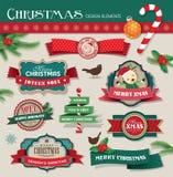Elementos del diseño de la Navidad Foto de archivo