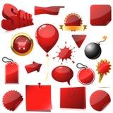 Elementos del diseño de la venta Imagen de archivo libre de regalías