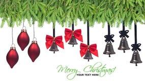 Elementos del diseño de las decoraciones de la Navidad Imagen de archivo