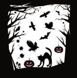 Elementos del diseño de las historietas de Halloween del vector Foto de archivo
