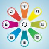 Elementos del diseño de las multimedias Imagen de archivo libre de regalías