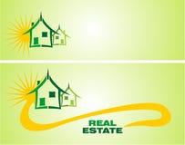 Elementos del diseño de las propiedades inmobiliarias stock de ilustración