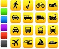 Elementos del diseño de los iconos del transporte Imagen de archivo