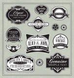 Elementos del diseño de los marcos de etiquetas del vintage Imagen de archivo libre de regalías