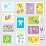 Elementos del diseño de los sellos del bebé libre illustration