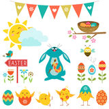 Elementos del diseño de Pascua Imagen de archivo libre de regalías