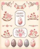 Elementos del diseño de Pascua Imagen de archivo