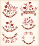 Elementos del diseño de Pascua Imagenes de archivo