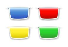 Elementos del diseño de Web Fotos de archivo libres de regalías