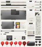 Elementos del diseño de Web del vector Imagen de archivo libre de regalías