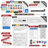 Elementos del diseño de Web del Web site Imagen de archivo libre de regalías