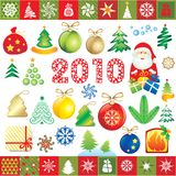 Elementos del diseño del Año Nuevo Fotos de archivo libres de regalías