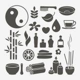 Elementos del diseño del balneario Fotografía de archivo libre de regalías