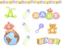 Elementos del diseño del bebé Foto de archivo libre de regalías