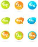 Elementos del diseño del blog libre illustration