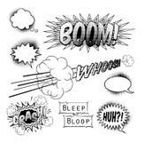 Elementos del diseño del cómic Foto de archivo libre de regalías