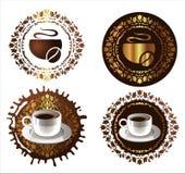 Elementos del diseño del café. ejemplo del vector Imagen de archivo
