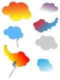 Elementos del diseño del conjunto de la nube Fotos de archivo