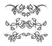 Elementos del diseño del follaje stock de ilustración