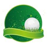 elementos del diseño del golf ilustración del vector