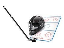Elementos del diseño del hockey Imagen de archivo