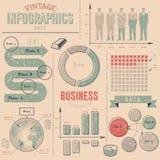 Elementos del diseño del infographics del vintage Imagen de archivo