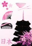 Elementos del diseño del japonés Imagen de archivo libre de regalías