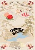 Elementos del diseño del japonés I imagen de archivo libre de regalías