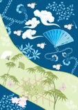 Elementos del diseño del japonés III imagen de archivo libre de regalías