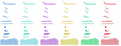Elementos del diseño del lápiz Fotos de archivo