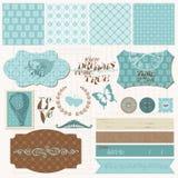 Elementos del diseño del libro de recuerdos - conjunto del amor de la vendimia Fotografía de archivo libre de regalías
