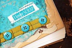 Elementos del diseño del libro de recuerdos - vintage Foto de archivo libre de regalías