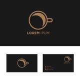 Elementos del diseño del logotipo con el ejemplo de la plantilla de la tarjeta de visita Imagen de archivo libre de regalías