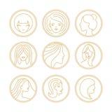 Elementos del diseño del logotipo de las mujeres del vector stock de ilustración