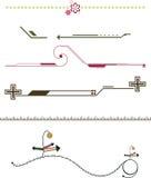 Elementos del diseño del marco de la frontera Imagen de archivo libre de regalías