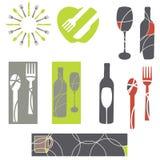 Elementos del diseño del menú Imagen de archivo libre de regalías