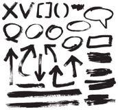 Vector del movimiento del cepillo Imagen de archivo libre de regalías