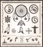 Elementos del diseño del nativo americano Foto de archivo libre de regalías