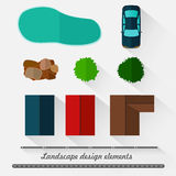 Elementos del diseño del paisaje libre illustration