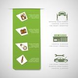 Elementos del diseño del servicio del coche Imagen de archivo libre de regalías