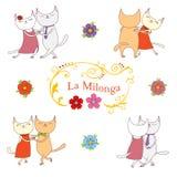 Elementos del diseño del tango de Argentina Imagen de archivo libre de regalías