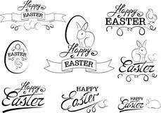 Elementos del diseño del typograph de Pascua Imagen de archivo