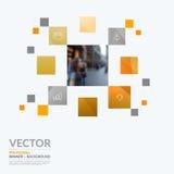 Elementos del diseño del vector del negocio para la disposición gráfica moderno Foto de archivo