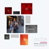 Elementos del diseño del vector del negocio para la disposición gráfica Resumen moderno Imagen de archivo