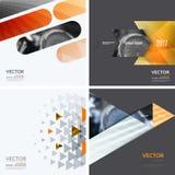 Elementos del diseño del vector del negocio para la disposición gráfica Resumen moderno Imagenes de archivo